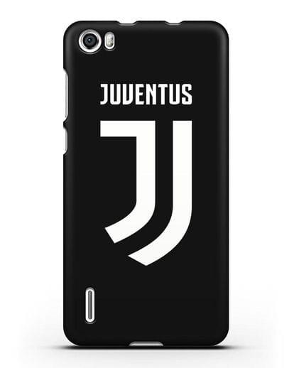 Чехол с логотипом и надписью Juventus силикон черный для Honor 6
