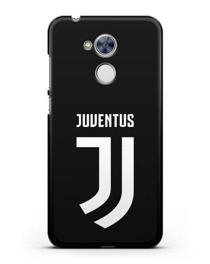 Чехол с логотипом и надписью Juventus силикон черный для Honor 6A