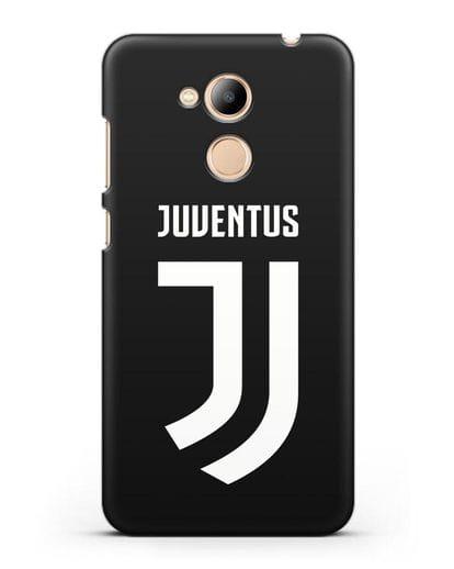 Чехол с логотипом и надписью Juventus силикон черный для Honor 6C Pro