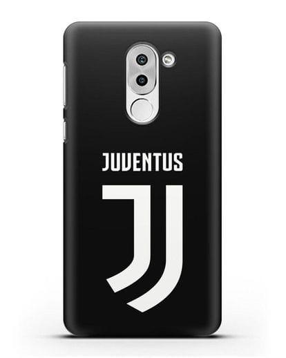 Чехол с логотипом и надписью Juventus силикон черный для Honor 6X