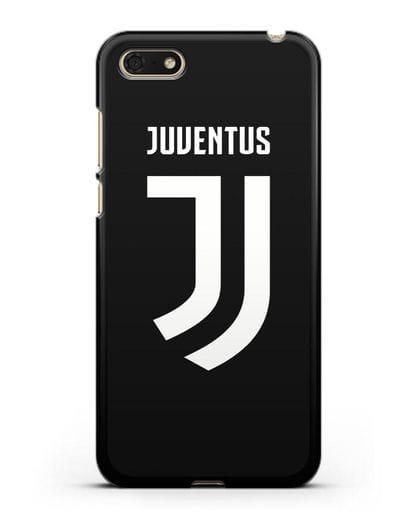 Чехол с логотипом и надписью Juventus силикон черный для Honor 7А