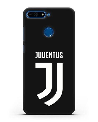 Чехол с логотипом и надписью Juventus силикон черный для Honor 7А Pro