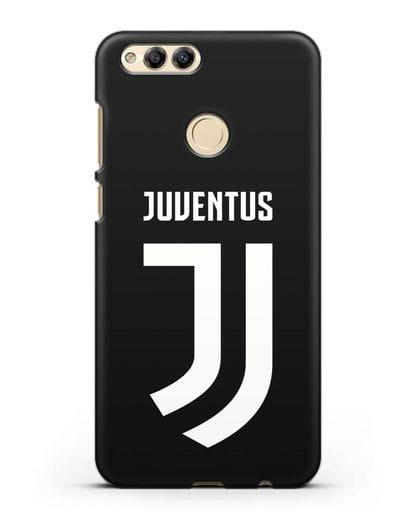 Чехол с логотипом и надписью Juventus силикон черный для Honor 7X