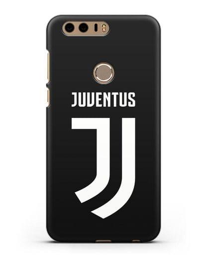 Чехол с логотипом и надписью Juventus силикон черный для Honor 8