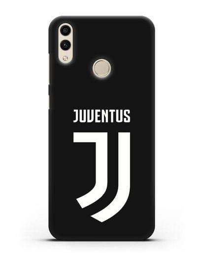 Чехол с логотипом и надписью Juventus силикон черный для Honor 8C