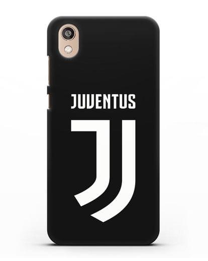 Чехол с логотипом и надписью Juventus силикон черный для Honor 8S