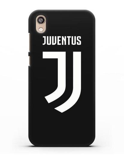 Чехол с логотипом и надписью Juventus силикон черный для Honor 8S Prime