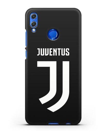 Чехол с логотипом и надписью Juventus силикон черный для Honor 8X
