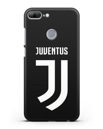 Чехол с логотипом и надписью Juventus силикон черный для Honor 9 Lite