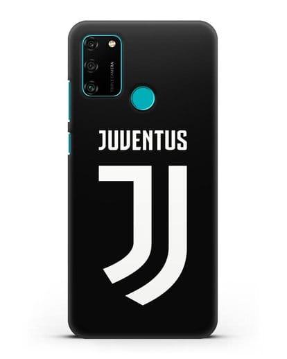 Чехол с логотипом и надписью Juventus силикон черный для Honor 9A