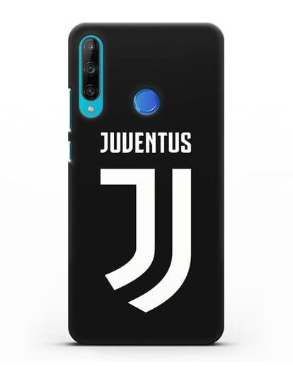 Чехол с логотипом и надписью Juventus силикон черный для Honor 9C