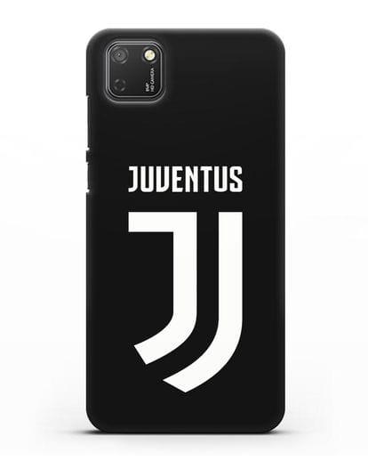 Чехол с логотипом и надписью Juventus силикон черный для Honor 9S