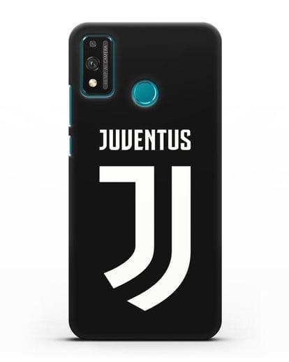 Чехол с логотипом и надписью Juventus силикон черный для Honor 9X lite
