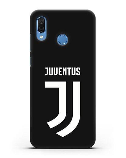 Чехол с логотипом и надписью Juventus силикон черный для Honor Play