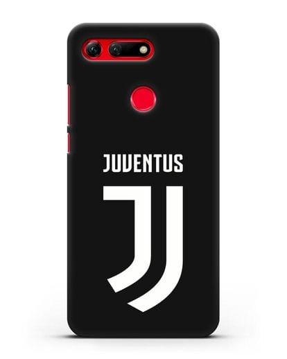 Чехол с логотипом и надписью Juventus силикон черный для Honor View 20