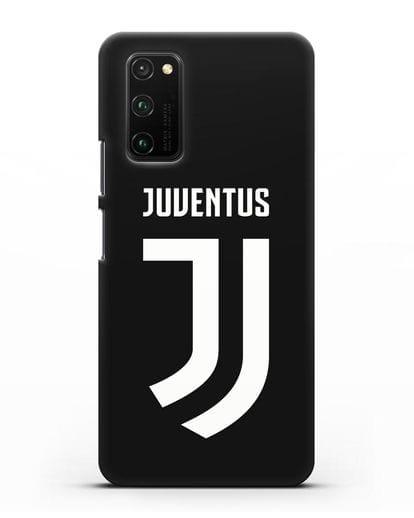Чехол с логотипом и надписью Juventus силикон черный для Honor View 30 Pro