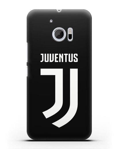 Чехол с логотипом и надписью Juventus силикон черный для HTC 10