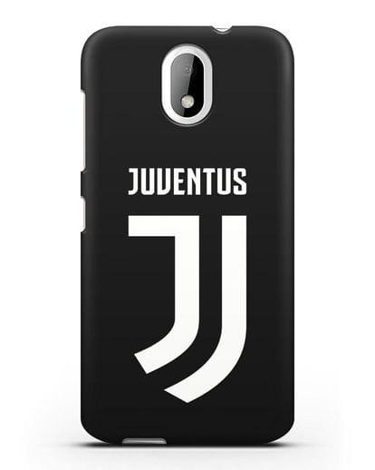 Чехол с логотипом и надписью Juventus силикон черный для HTC Desire 526