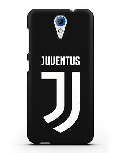 Чехол с логотипом и надписью Juventus силикон черный для HTC Desire 620