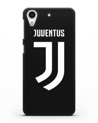 Чехол с логотипом и надписью Juventus силикон черный для HTC Desire 626