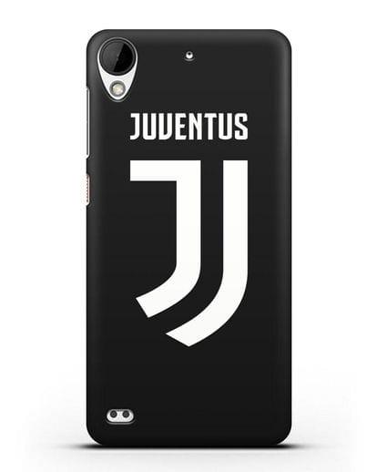 Чехол с логотипом и надписью Juventus силикон черный для HTC Desire 630
