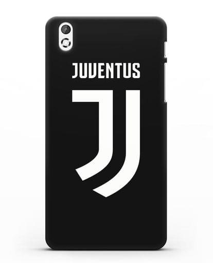 Чехол с логотипом и надписью Juventus силикон черный для HTC Desire 816