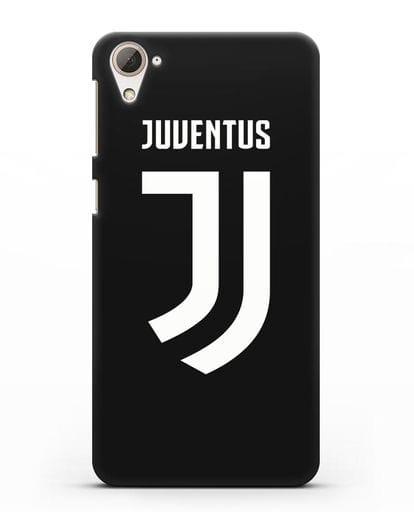 Чехол с логотипом и надписью Juventus силикон черный для HTC Desire 826