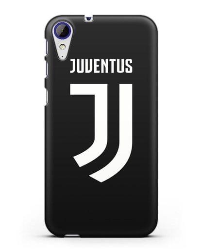 Чехол с логотипом и надписью Juventus силикон черный для HTC Desire 830