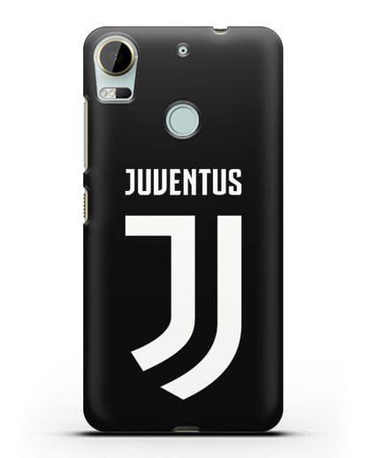 Чехол с логотипом и надписью Juventus силикон черный для HTC Desire 10 Pro