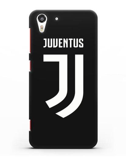 Чехол с логотипом и надписью Juventus силикон черный для HTC Desire Eye