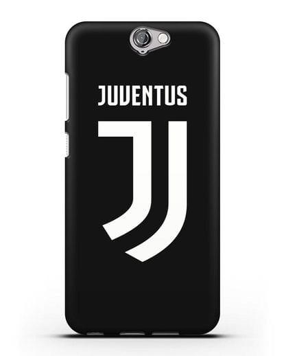 Чехол с логотипом и надписью Juventus силикон черный для HTC One A9