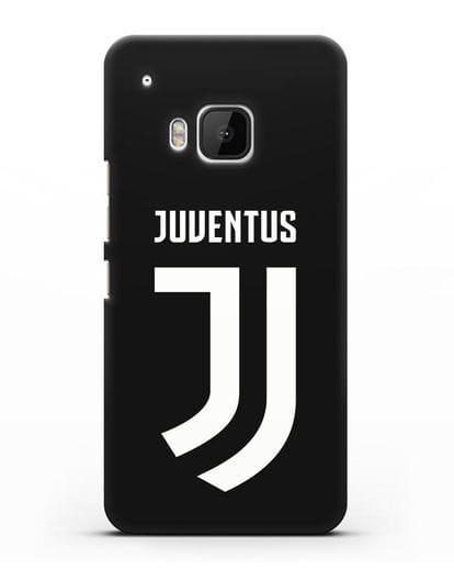 Чехол с логотипом и надписью Juventus силикон черный для HTC One M9