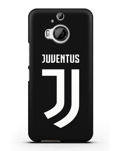 Чехол с логотипом и надписью Juventus силикон черный для HTC One M9 Plus