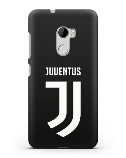 Чехол с логотипом и надписью Juventus силикон черный для HTC One X10