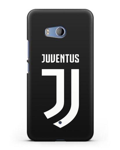 Чехол с логотипом и надписью Juventus силикон черный для HTC U11