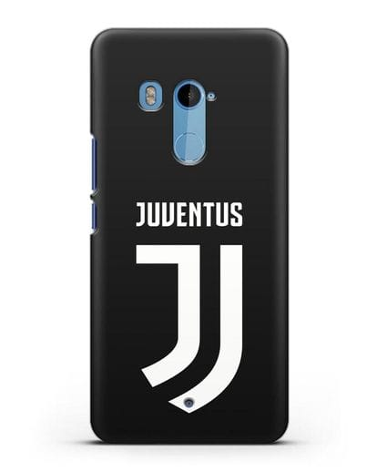Чехол с логотипом и надписью Juventus силикон черный для HTC U11 Plus