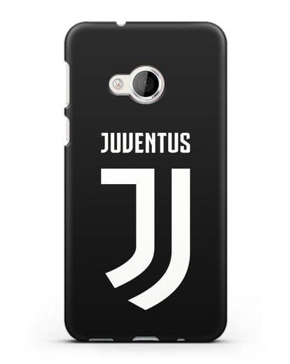 Чехол с логотипом и надписью Juventus силикон черный для HTC U Play