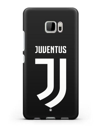 Чехол с логотипом и надписью Juventus силикон черный для HTC U Ultra