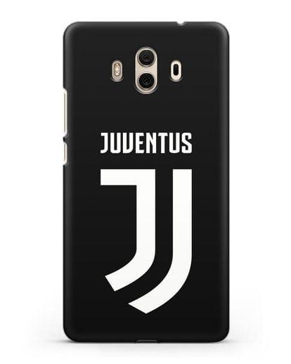 Чехол с логотипом и надписью Juventus силикон черный для Huawei Mate 10