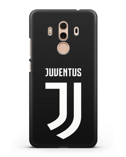 Чехол с логотипом и надписью Juventus силикон черный для Huawei Mate 10 Pro