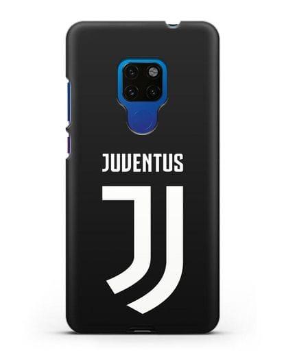 Чехол с логотипом и надписью Juventus силикон черный для Huawei Mate 20