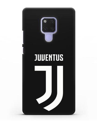 Чехол с логотипом и надписью Juventus силикон черный для Huawei Mate 20X