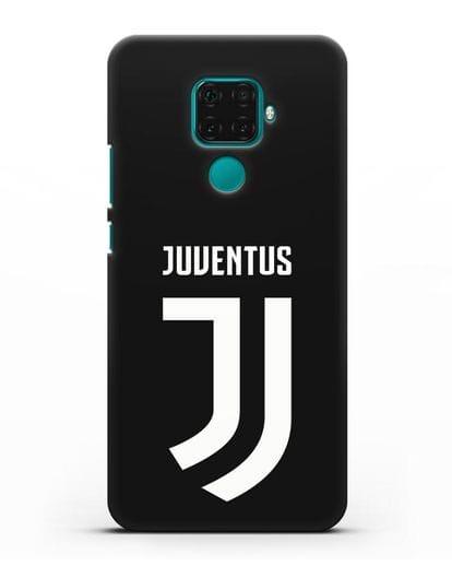 Чехол с логотипом и надписью Juventus силикон черный для Huawei Mate 30 Lite