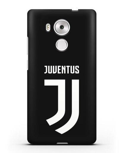 Чехол с логотипом и надписью Juventus силикон черный для Huawei Mate 8