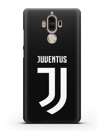 Чехол с логотипом и надписью Juventus силикон черный для Huawei Mate 9