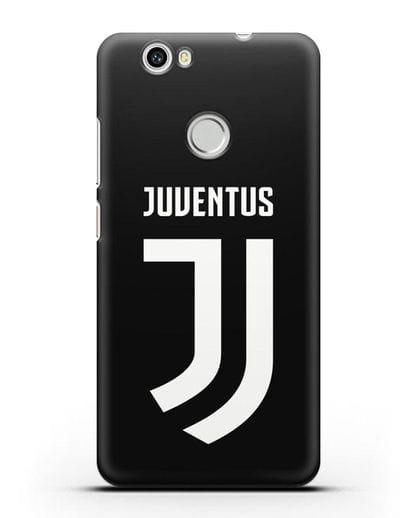 Чехол с логотипом и надписью Juventus силикон черный для Huawei Nova