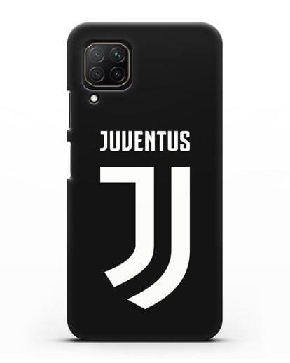 Чехол с логотипом и надписью Juventus силикон черный для Huawei Nova 7i