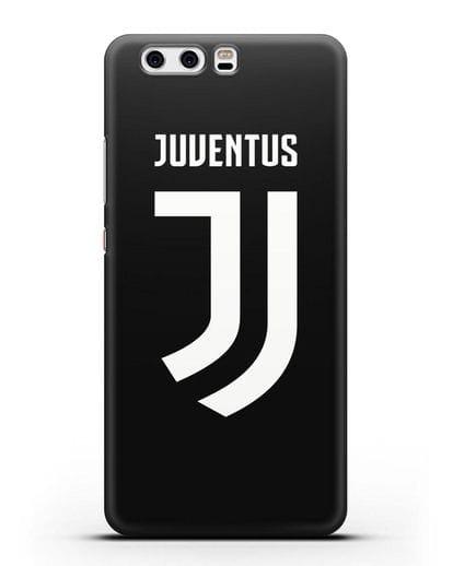 Чехол с логотипом и надписью Juventus силикон черный для Huawei P10