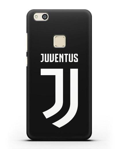 Чехол с логотипом и надписью Juventus силикон черный для Huawei P10 Lite
