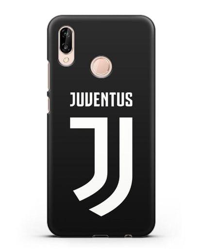 Чехол с логотипом и надписью Juventus силикон черный для Huawei P20 Lite